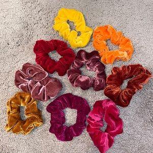 🍄Scrunchie Set of 9 Warm Colors